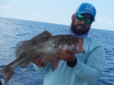 Nice Red Grouper caught in 100' of water