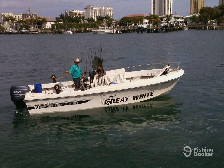 Captain eden great white west palm beach fl for West palm beach fishing