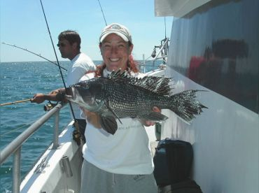 Sea bass fishing off Atlantic City!