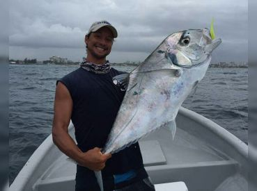 Nice African Pompano, reef fishing light tackle