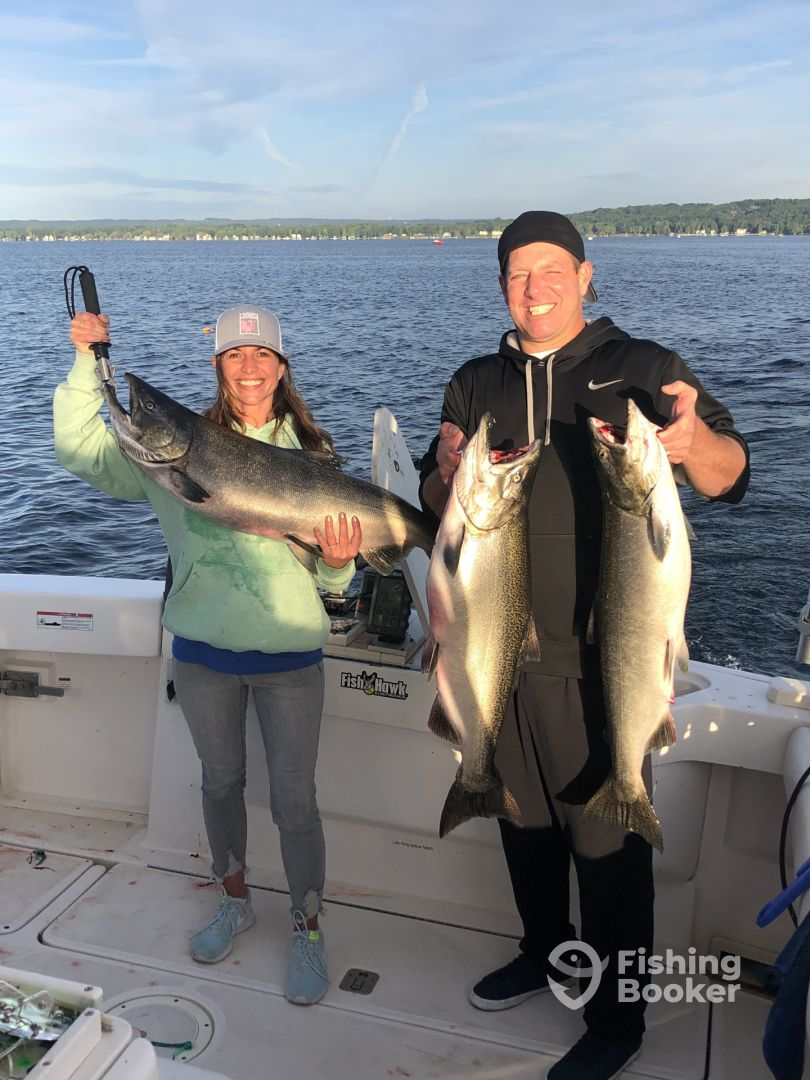 Triple header on East Grand Traverse  bay!