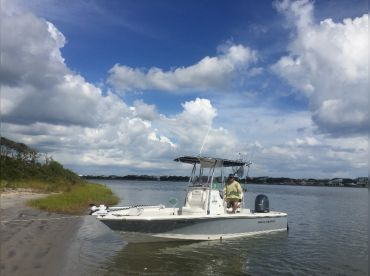 Capt. Chadwick is ready to take you on your next Topsail fishing adventure.