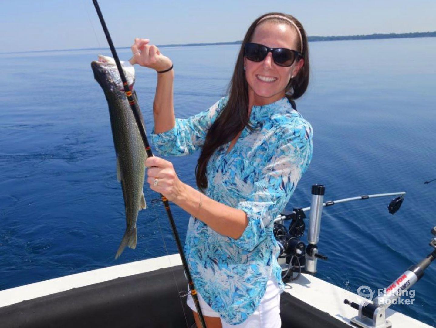 True blue charters traverse city mi fishingbooker for Michigan city fishing charters