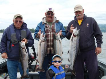 Good job guys on the take your grandson fishing day