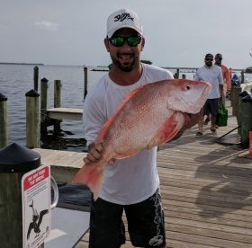 First Big Red Snapper of the day