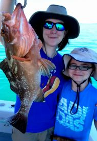 Mom, Daughter & Grouper