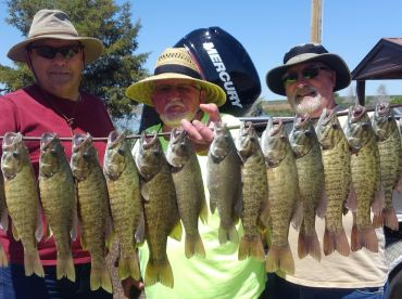 Smallmouth Bass action in early May.