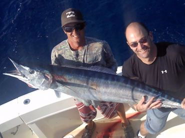 The super the super fast and agile Wahoo is welcomed aboard the Marlin My Darlin