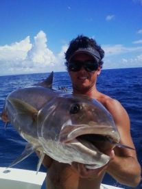 Full grown Amberjack with 1st mate