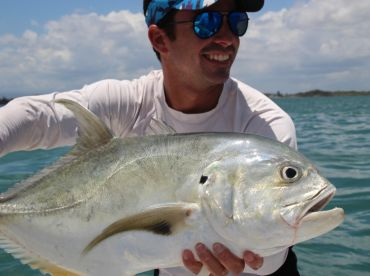 Monster jack fishing in Puerto Rico