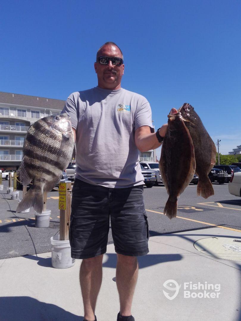 Sheepshead and flounder