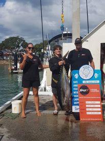 Yellowfin tuna Bay of Islands January 2021