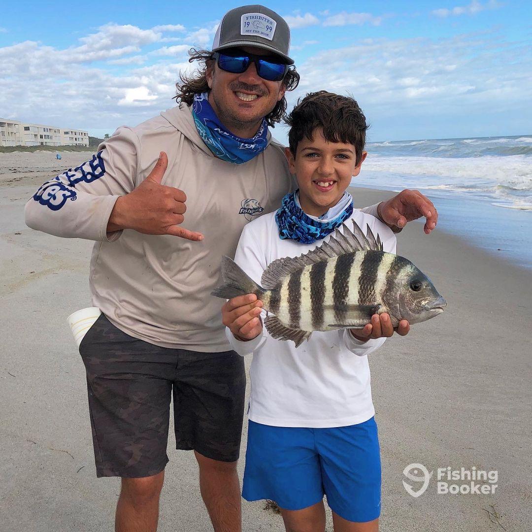 Family fun trips surf fishing for sheepshead.
