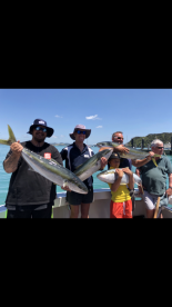 7hr King fish trip on (Screaming Reels) with Skipper (Hamish) and deckhand (Tisha)