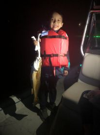 Family Night Fishing with Capt Steve in Galveston Bay