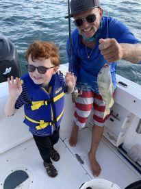 Kids learned bait fishing