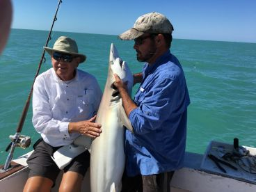 Six of us booked a half day trip with Captain Steve to go out Shark fishing.