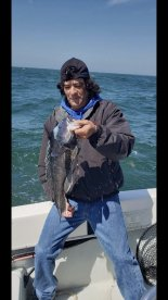 Captain Vinny knows where the fish is , excellent fishing trip