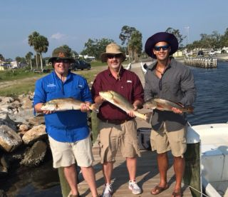 Father and sons fishing trip