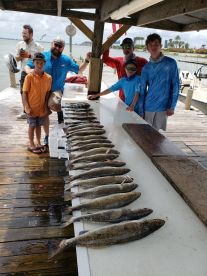 Father and Son fishing trip with Book'em & Hook'em Charters and Captain Epi