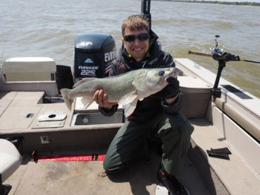 One day out fishing with Danny on Lake Winnipeg