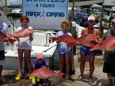 Max drag snapper catch with Captain Curtis!