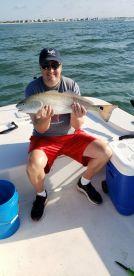 One of three huge Redfish