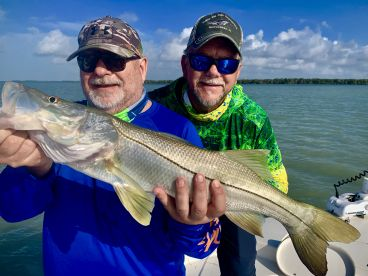 Marko and Chuck with a big snook