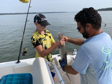 4 hr shark trip w Captain Shay