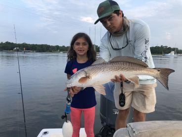 Our girls first ever Coastal catch.. 28\u201d redfish!