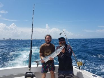 Barracuda, my sons 1st saltwater fish.