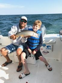 Charter fishing with Captain Jason and Don