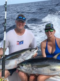 Tuna, Tuna and soar arms and big smiles