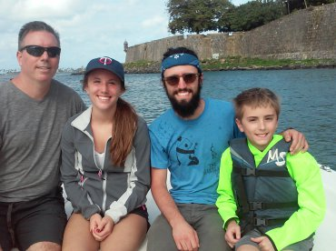 Family enjoyed the fishing and getting to see historic sites from the water