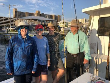 1st Pensecola fishing trip with ty h Capt Mike on sureshot fishing