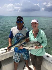 Captain\u2019s son and Lisa with just some of her catch