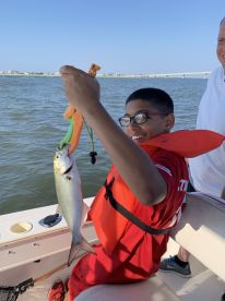 Great first fishing trip for my son!!!!