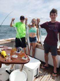 3 ribbon fish caught with some nice Spanish mac