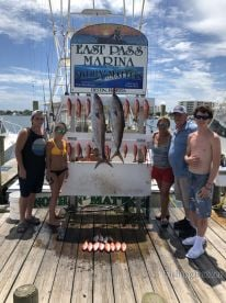 Full day fishing \ud83c\udfa3 trip with Captain Tyler and Frank