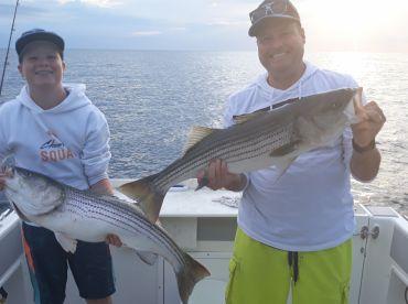 Dave and his son at Block Island