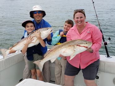 We must have caught 20 of these big Red Fish.