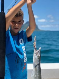 Kids fishing and dolphin trip with Dimmytri