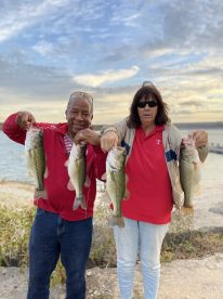 Ronnie and Sandy with part of their catch