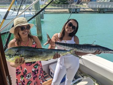 My wife and her mom  with their best fish