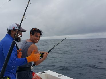 entire day fishing with crew of two