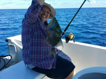 Queen Trigger Fish- caught first hour of trip!