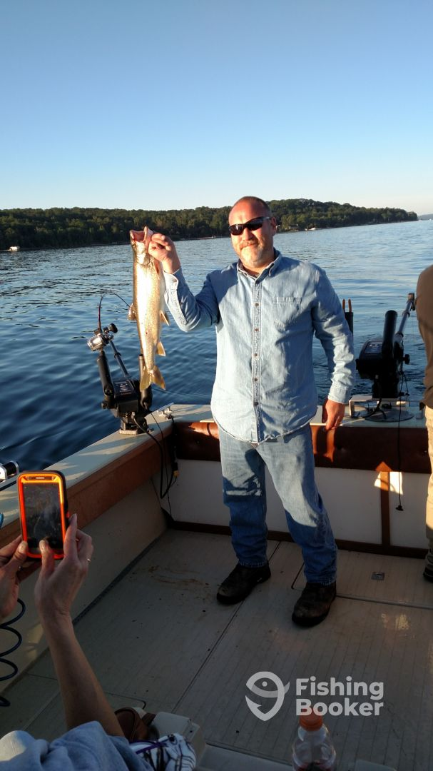 Prime time fishing charters traverse city michigan for Michigan city fishing charters