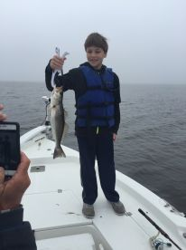 Carter and his first catch