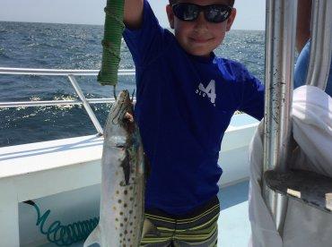 Spanish mackerel and my 8 year old :)