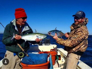 Albacore on the fly with Captain Joe